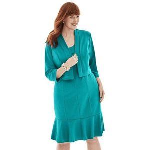 Jessica London Plus Size Ponte Jacket Dress Sz 16W